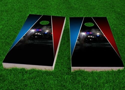 Police Theme Cornhole Game (Set of 2) by Custom Cornhole Boards