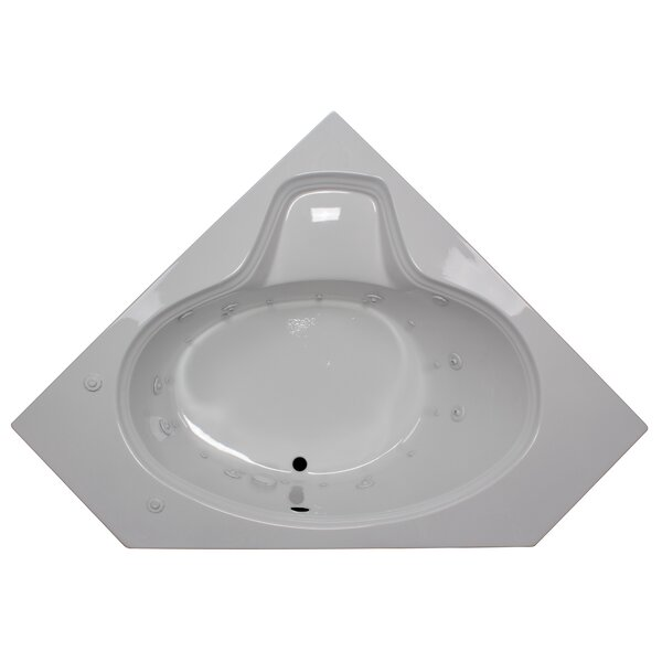 60 x 60 Corner Oval Salon Spa Air/Whirlpool Tub by American Acrylic
