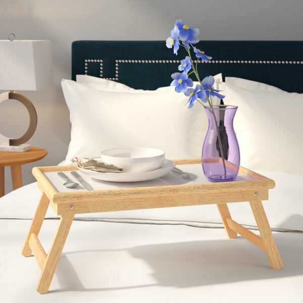 Mila Breakfast Tray with Flip Top and Foldable Legs by Andover Mills