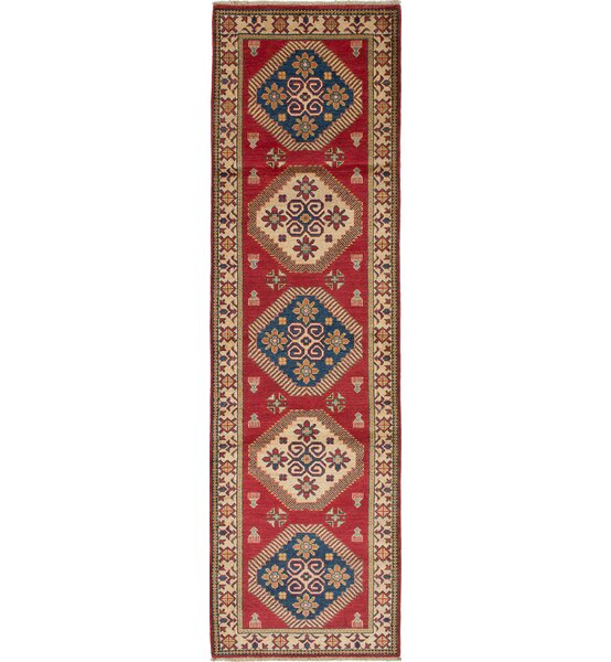 One-of-a-Kind Noriko Hand-Knotted Wool Cream/Dark Burgundy Area Rug by Isabelline