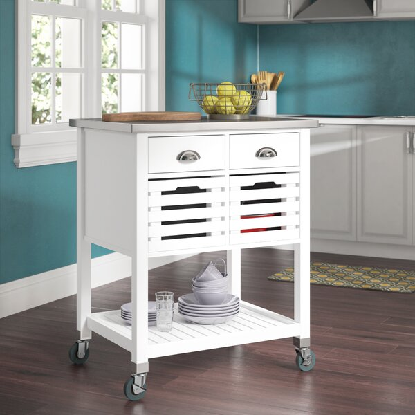 Fulton Kitchen Cart with Stainless Steel by Red Barrel Studio