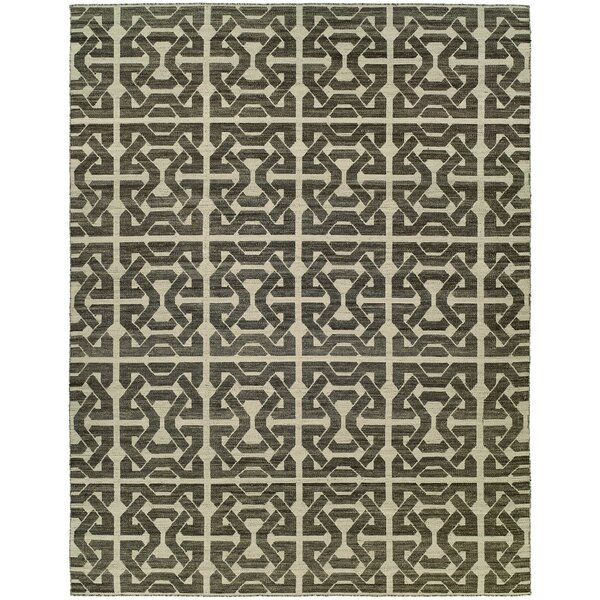 Floyd Handmade Ivory/Black Area Rug by The Conestoga Trading Co.