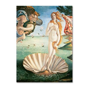 'Birth of Venus 1484' by Sandro Botticelli Painting Print on Canvas by Trademark Fine Art