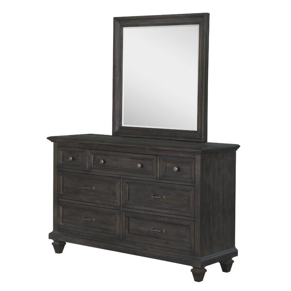 Saguaro 7 Drawer Double Dresser with Mirror by Grovelane Teen