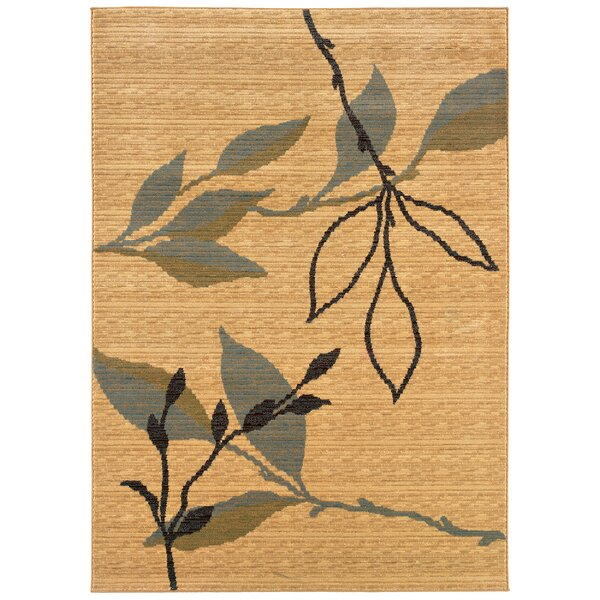 Opulence Cream/Blue Leaf and Sprig Design Area Rug by LR Resources