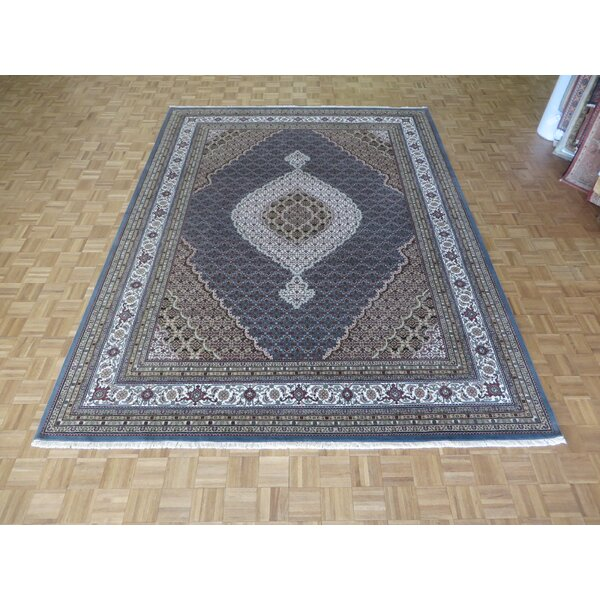 One-of-a-Kind Raiden Hand-Knotted Wool Light Blue Area Rug by Astoria Grand