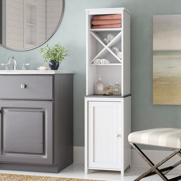 Gulf 14.72 W x 60.6 H Linen Tower by Beachcrest Home
