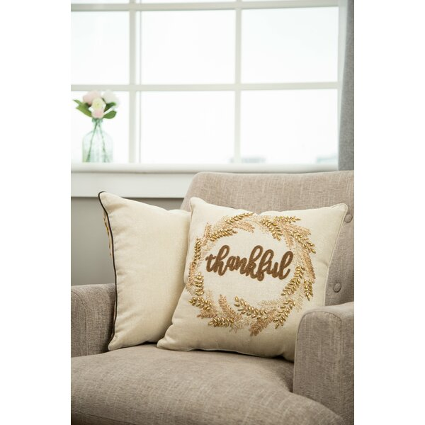 Chumasero Embroidered Thanksgiving Throw Pillow by The Holiday Aisle