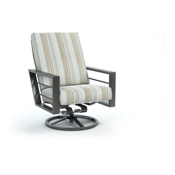 Gallegos Trusted Fog High Back Rocker Chat Swivel Patio Chair with Sunbrella Cushions by Breakwater Bay