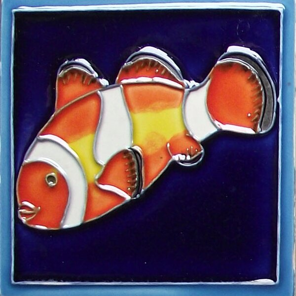 Marine Fish Tile Magnet by Continental Art Center