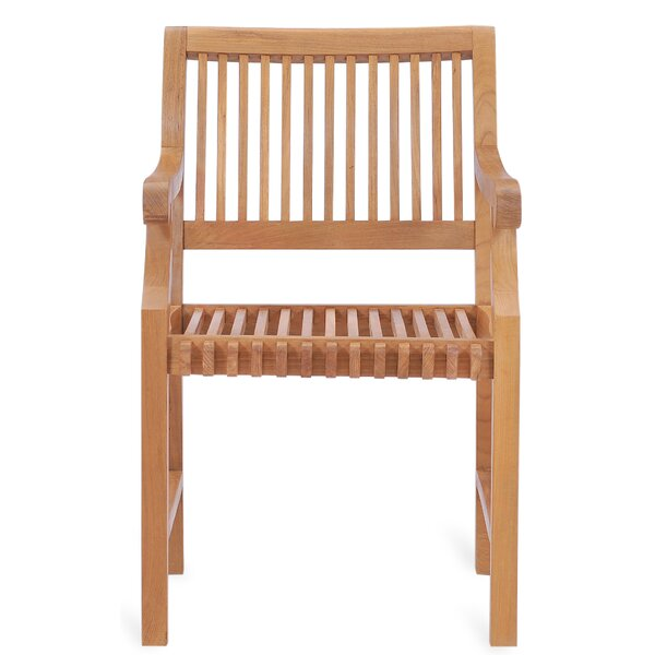 Hearne Teak Patio Dining Chair by Foundry Select