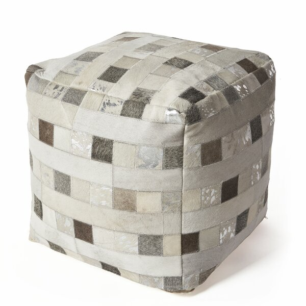 Ritchie Hide Elements Leather Pouf By Union Rustic by Union Rustic Cool