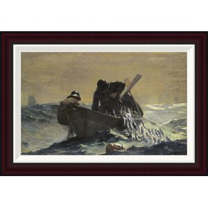 The Herring Net by Winslow Homer Framed Painting Print by Global Gallery