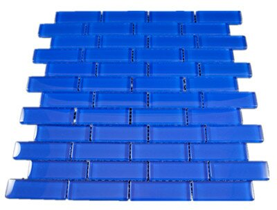 Glass Mosaic Tile in Blue by Multile