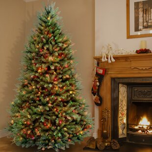 pencil 9 green fir artificial christmas tree with 500 clear lights with stand