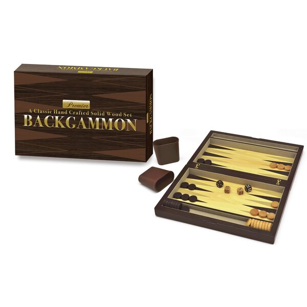 Premier Wooden Backgammon by Intex Entertainment Inc