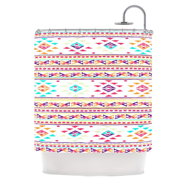Aylen by Nika Martinez Tribal Shower Curtain by East Urban Home
