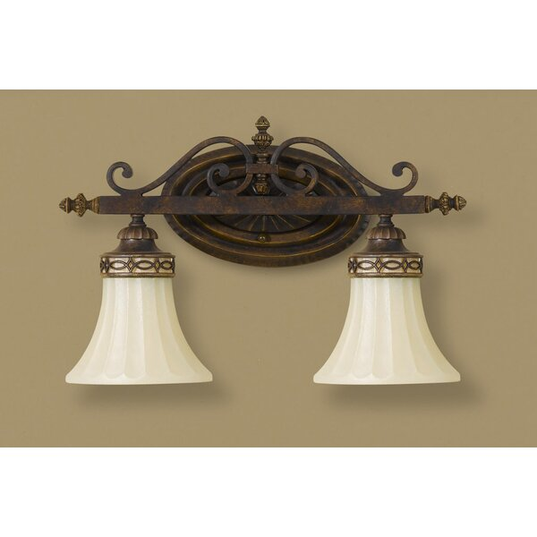 Linda 2-Light Vanity Light by Fleur De Lis Living