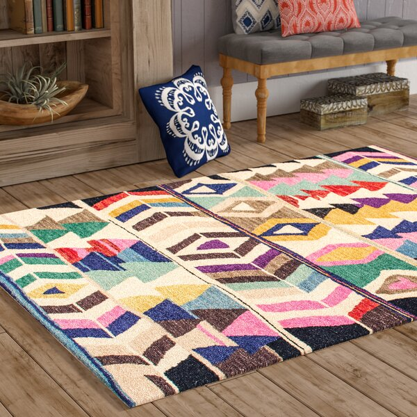 Foti Hand-Tufted Pink/Beige Area Rug by Bungalow Rose