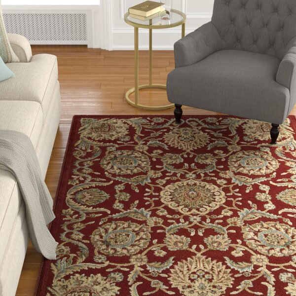 Ruckus Red Area Rug by Astoria Grand