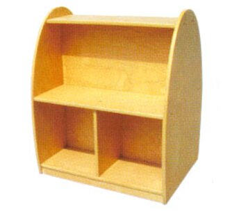 Toddler Arch 2 Compartment Book Display with Casters by A+ Child Supply