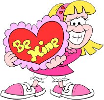 Valentines Be Mine Cutout Wall Decal by Wallhogs