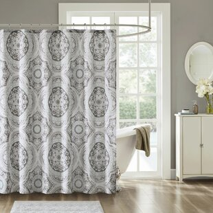 Look for Jacob Printed Cotton Shower Curtain By Bungalow Rose