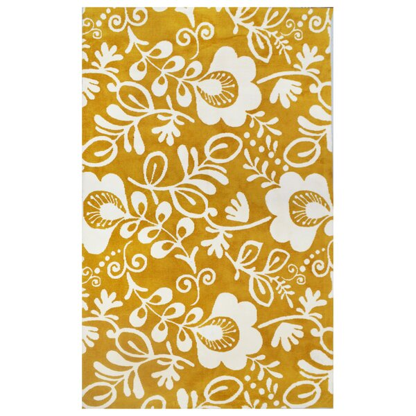 Microplush Yellow Area Rug by Tuft & Loom