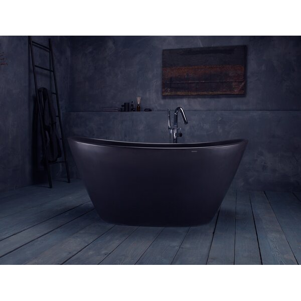 PureScape 63 x 33.5 Freestanding Soaking Bathtub by Aquatica