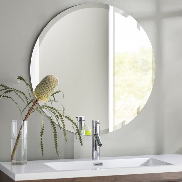 Greyson Frameless Round Wall Mirror by Langley Street