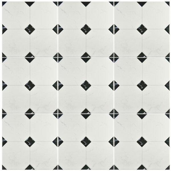 Valencia 13.12 x 13.12 Ceramic Field Tile in Marbleized Gray by EliteTile