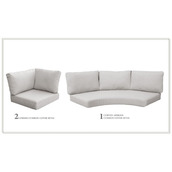 High Back 7 Piece Indoor/Outdoor Replacement Cushion Set By Highland Dunes