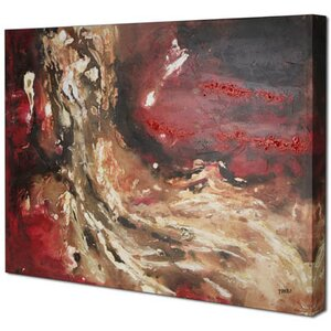Red Abstract I by Tina O. Painting on Wrapped Canvas by Hobbitholeco.