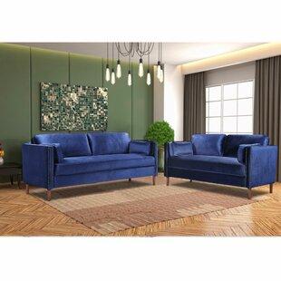 2 Piece Standard Living Room Set by Mercer41