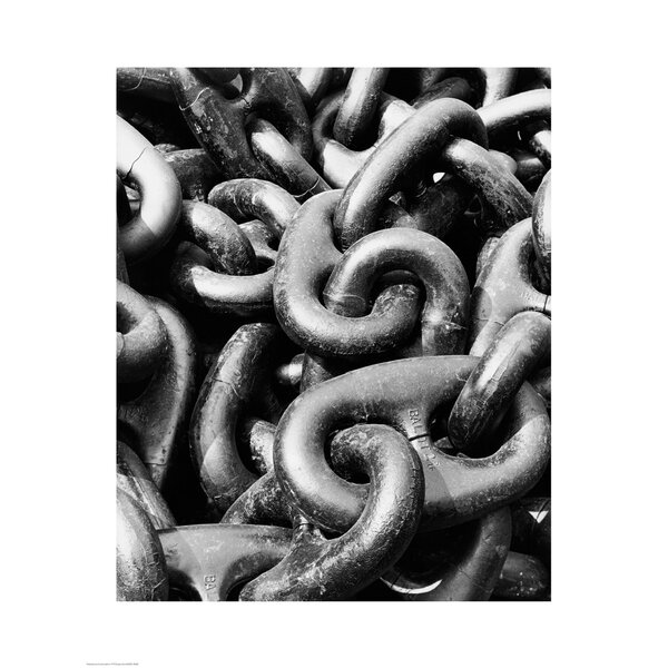 Close-up of a Rusty Anchor Chain, Sun Shipbuilding Company, Chester, Pennsylvania, USA Photographic Print by Evive Designs