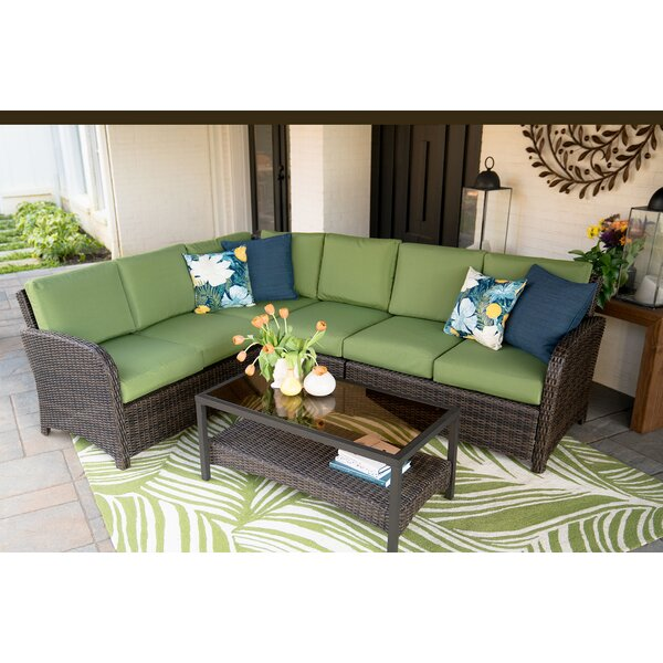 Keyser 5 Piece Sectional Seating Group with Cushions by Bayou Breeze