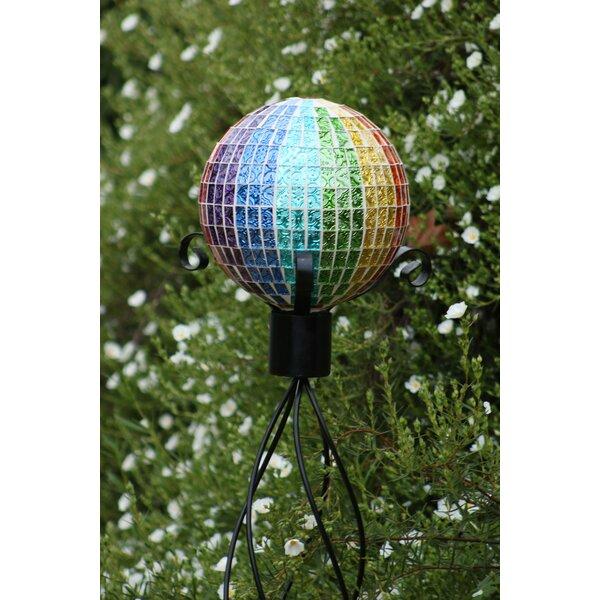Rainbow Mosaic Gazing Globe by Alpine