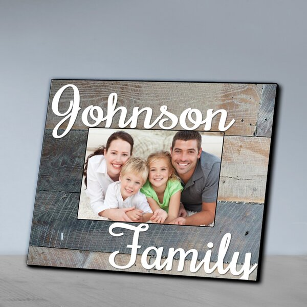 Personalized Family Wood Grain Frame by JDS Personalized Gifts