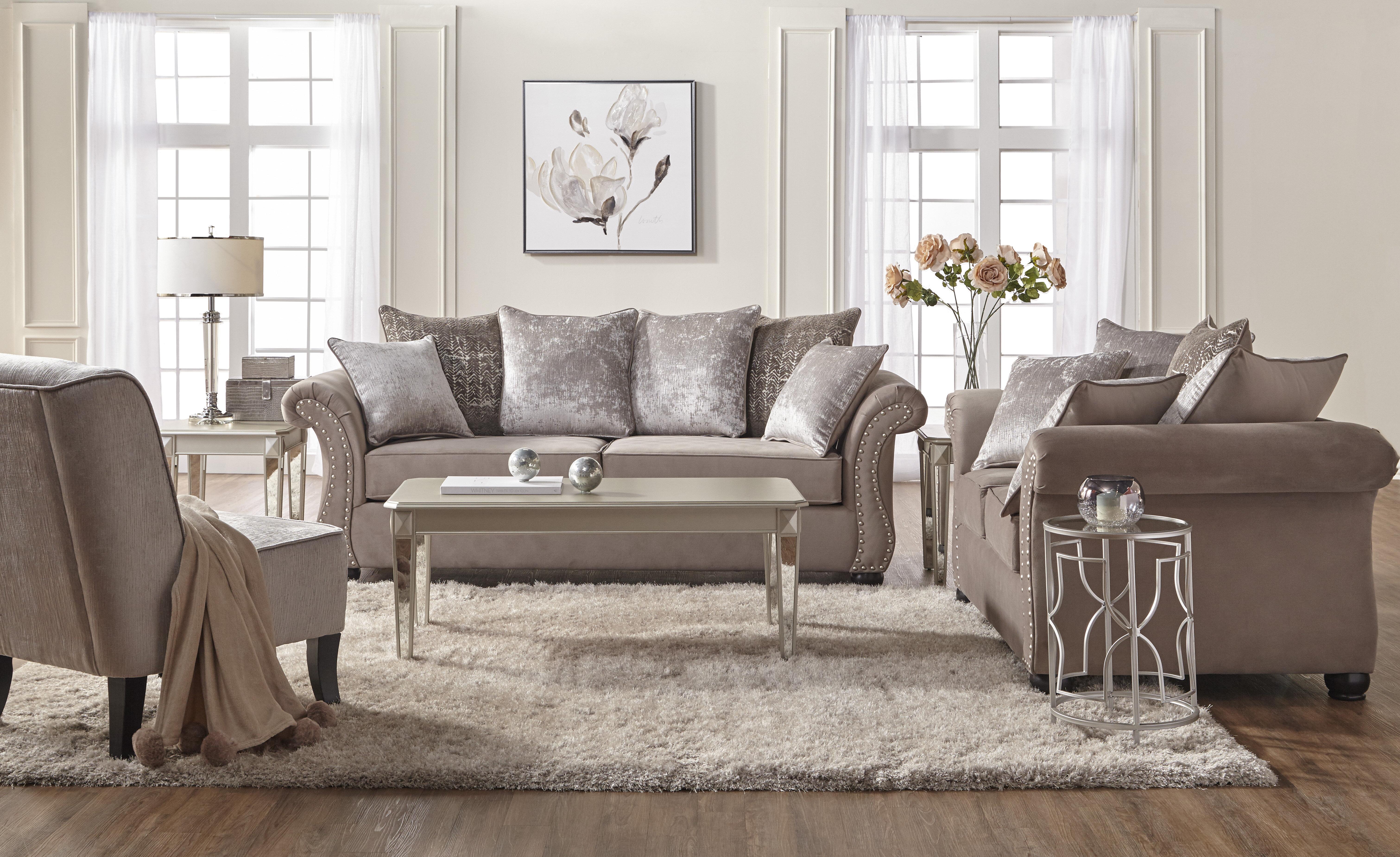 Alcott Hill Agnes 2 Piece Living Room Set U0026 Reviews | Wayfair