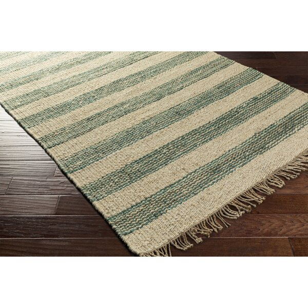 Boughner Hand-Woven Blue/Neutral Area Rug by Three Posts