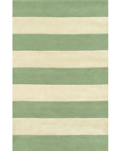 Beach Seafoam/Ivory Boardwalk Stripes Area Rug by American Home Rug Co.