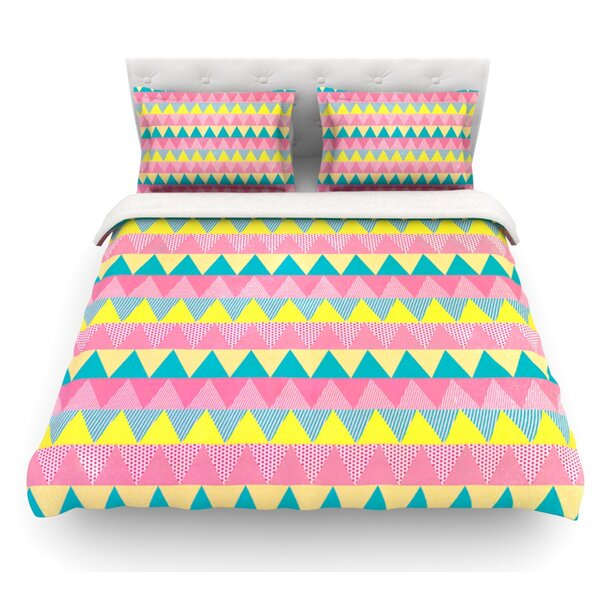Triangles by Louise Machado Featherweight Duvet Cover by East Urban Home