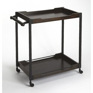 Tankersley Wood and Metal Bar Cart