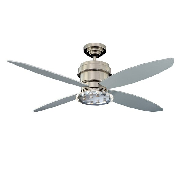 52 Optica 4-Blade Ceiling Fan with Wall Remote by Kendal Lighting