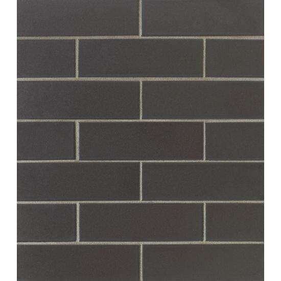 Reverie 2 x 6  Porcelain Subway Tile in Black by Grayson Martin
