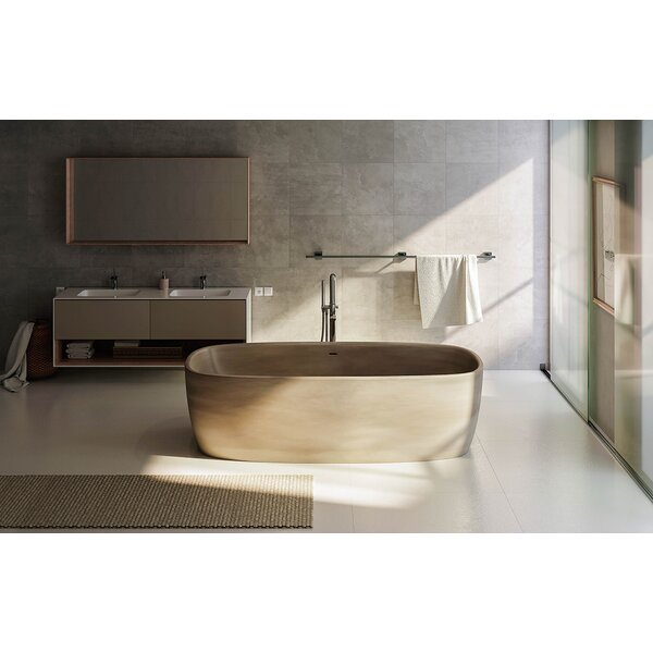 Coletta™ 70.75  x 35.5 Freestanding Soaking Bathtub by Aquatica