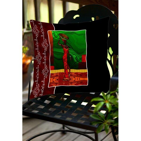 Sebrite Graphic Print Indoor/Outdoor Throw Pillow by Bloomsbury Market