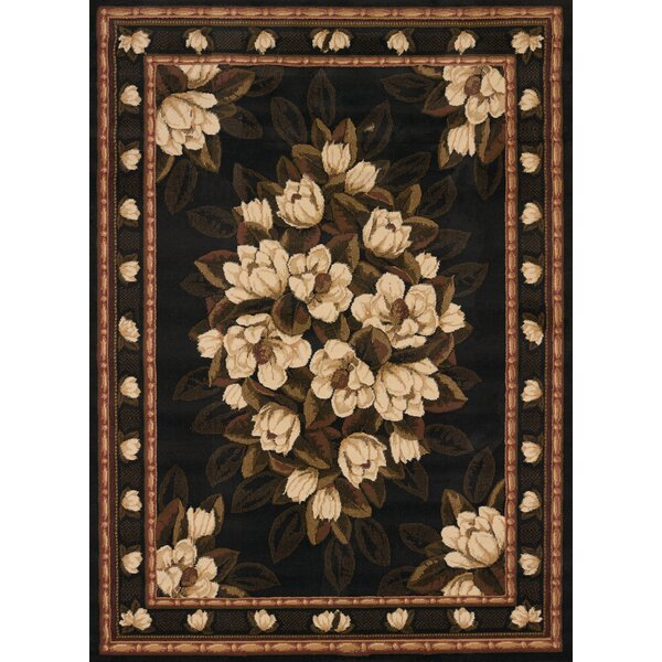 China Garden Sugar Magnolia Black Area Rug by United Weavers of America