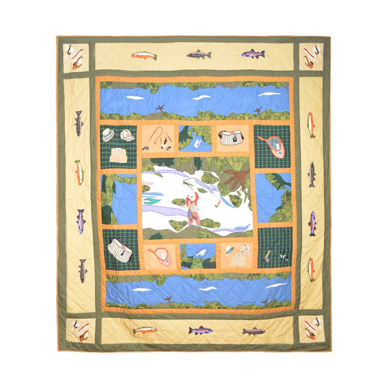 Patch Magic Fly Fishing Quilt & Reviews | Wayfair : fishing quilt - Adamdwight.com