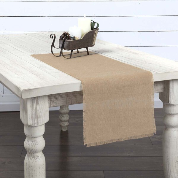 Lemanski Jute Burlap Table Runner by Gracie Oaks